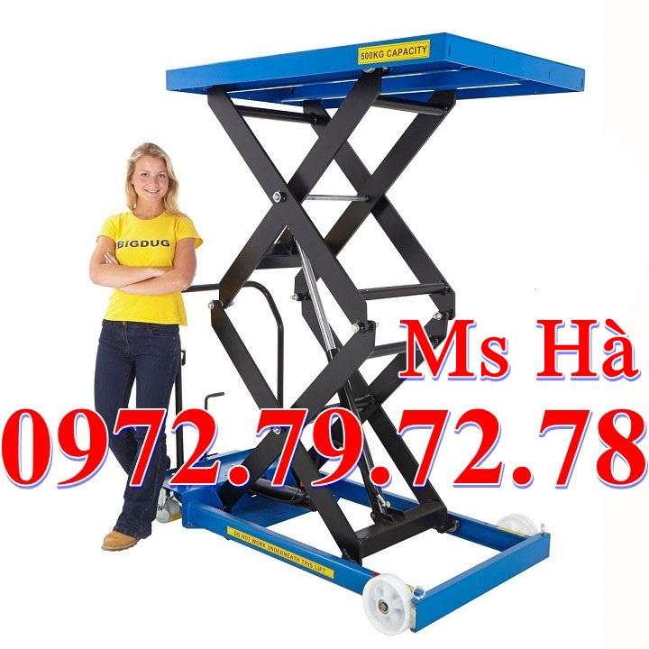 bàn nâng thủy lực 350kg tại hà nội