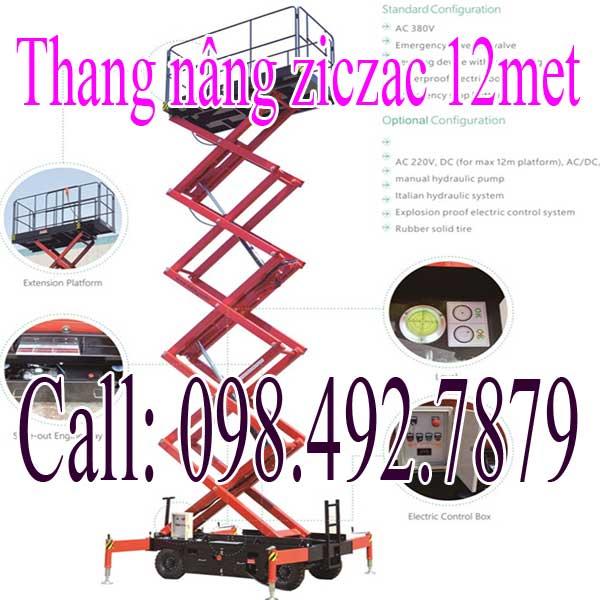 Thang Nâng Người 12met Ziczac Nhập Khẩu Nguyên Chiếc Giá Tốt