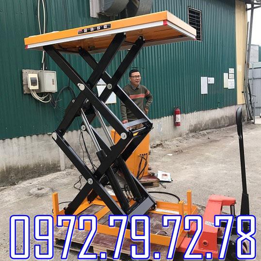 bàn nâng điện 1 tấn 2 tấn