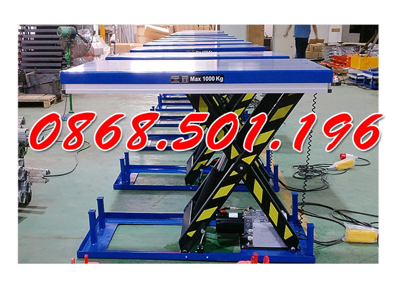 Bàn nâng điện 1 tấn cao 1m Staxx chính hãng