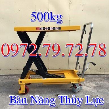 Bàn nâng thủy lực 500kg 1 tấn