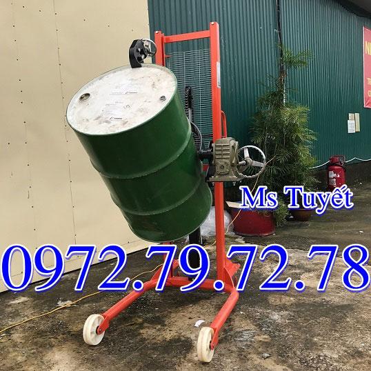 Xe nâng thùng phuy 350kg