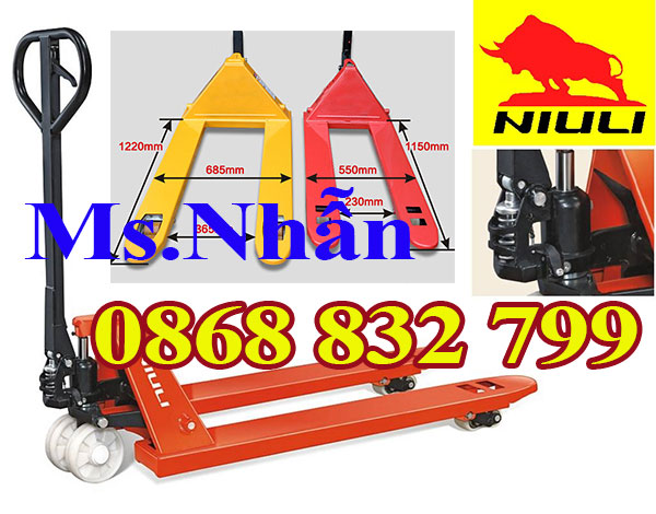 Xe nâng tay thấp 2 tấn Niuli nhập khẩu