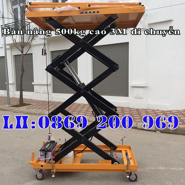 Bàn nâng 500kg nâng cao 3M di chuyển - hàng hiếm, giá tốt